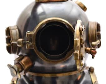 Copper Diving Helmet Wine Beer Bucket Boston Brass Helmet Scuba Divers Divers