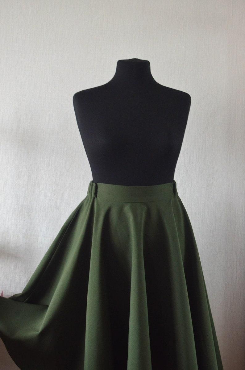 Full Сircle Skirt Circle Skirt Skater Skirt Midi Skirt image 1