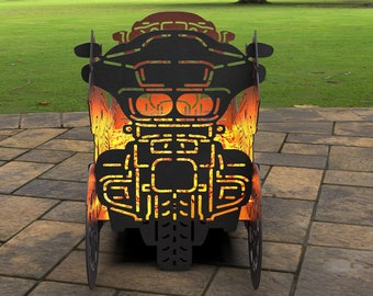 Motorcycle Hexagon Fire Ring Fire Pit