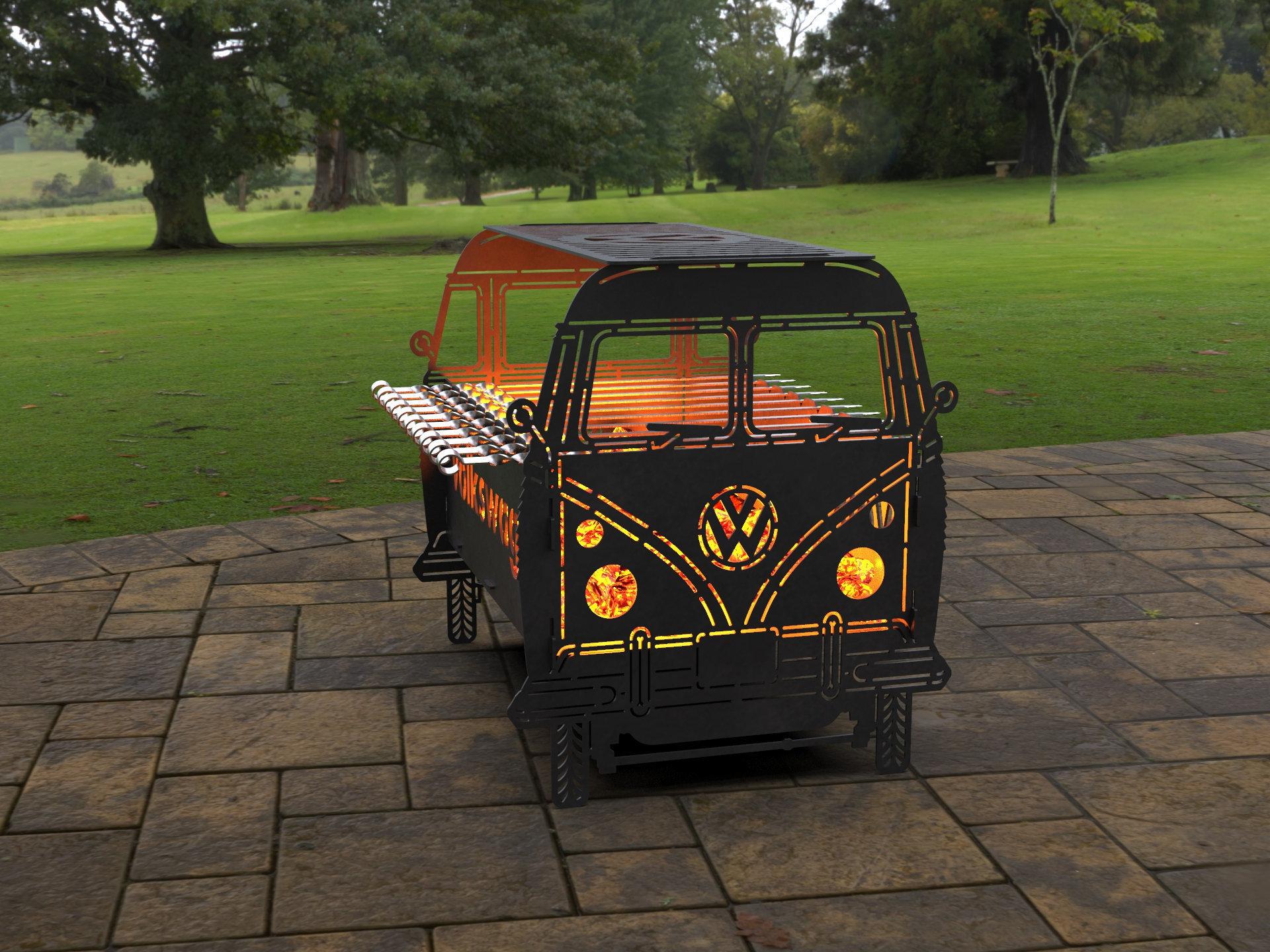 car Mangal Collapsible FirePit Gelandewagen Fire Pit SVG for CNC Bbq Grill Digital product Barbecue files DXF Laser Plasma