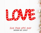 Love Svg Png Dxf Eps, love with hearts svg, Valentines day, Wedding anniversary svg, Papercut Template, Cricut Silhouette Cut, T-shirt svg