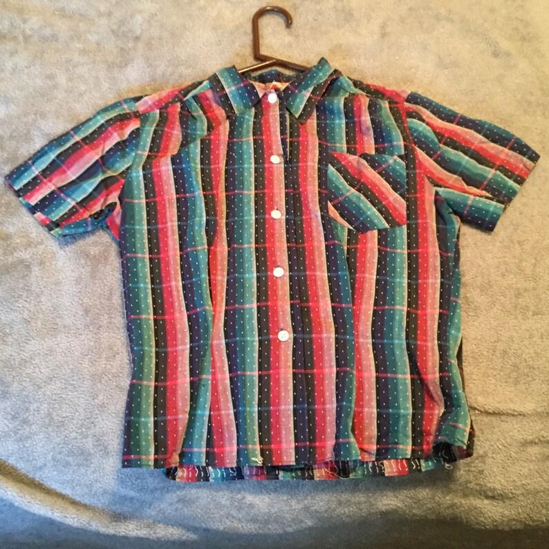 Vintage 60\u2019s Top Shirt Blouse Wrinklier Shed Dan River