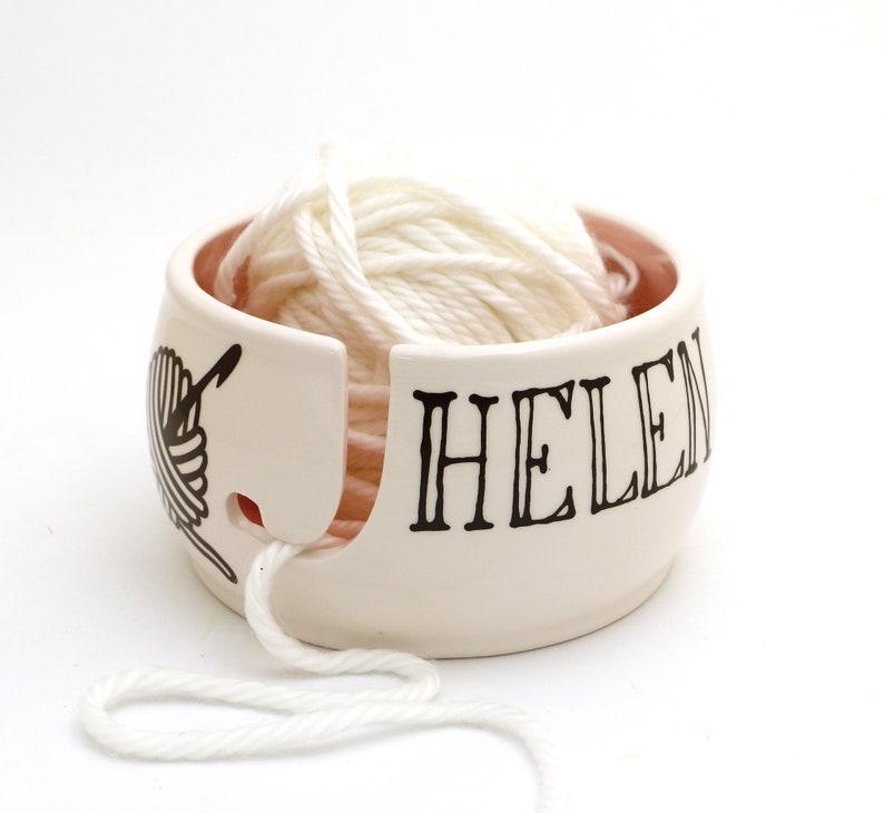 Personalized yarn bowl crochet ships in 1-3 days custom image 0
