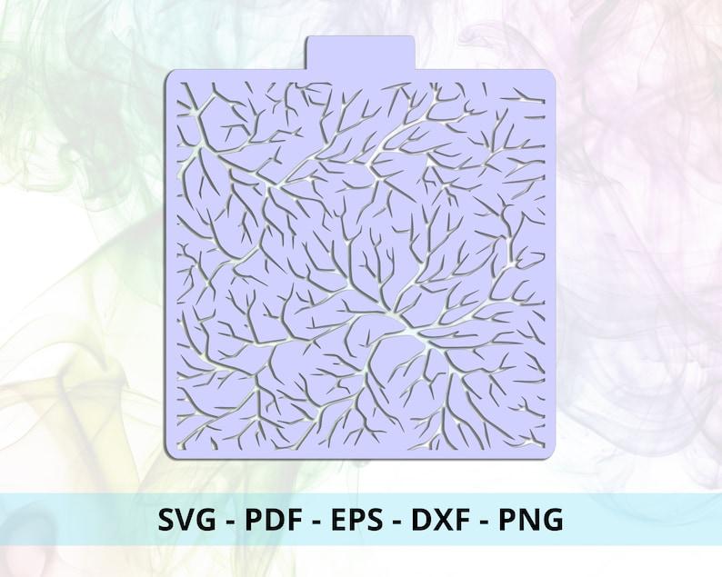 Branches Stencil SVG Cut File