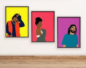 Art Mac Miller Inspired Poster v2 Print. Minimalist Rap Poster
