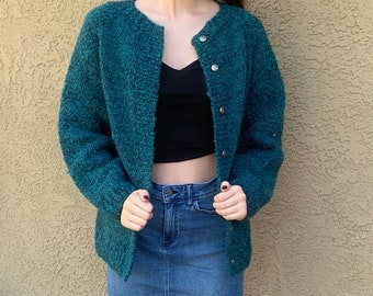50/% OFF...last call  Vintage 1990s Teddy Bear Knit Top  XS-S