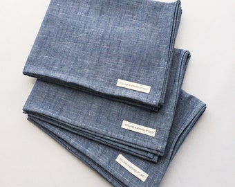Kitchen Towel in Crosshatch Chambray