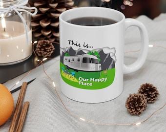 Airstream Trailer Happy Place Ceramic Mug 11oz