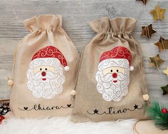 St. Nicholas bag, Christmas bag personalized with name, St. Nicholas gift, jute bag, jute bag, Santa Claus, St. Nicholas gift
