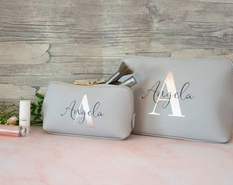 Cosmetic bag personalized with name and initial | Bag | Personalised cosmetic bag | personalized bag | Make-up bag