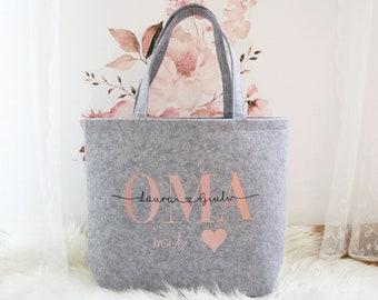 Felt bag grandma personalized, gift idea, personalized bag, personalized gift, Christmas gift, Mother's Day