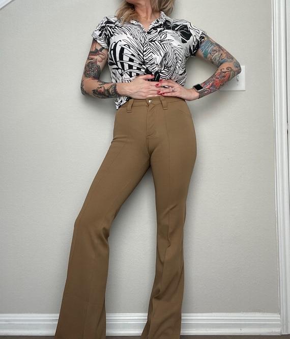 Vintage 1970s Lee Western Flared Pants