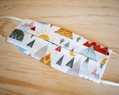 Washable Face Mask, Southwest Print, Triple Layer 100% Cotton with Filter Pocket