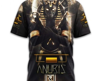 Ancient Egyptian Pharaoh 3D Print Casual T-Shirt Women Men Short Sleeve Tops
