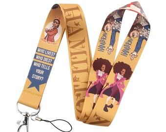 HAMILTON LANYARD [B] Broadways Musical Play ~ Key Ring ID Badge Holder Neck Strap