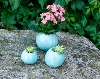 Decorative planting ball, clay ball, ceramic planter, succulent pot, cactus pot, plant pot, mini pot