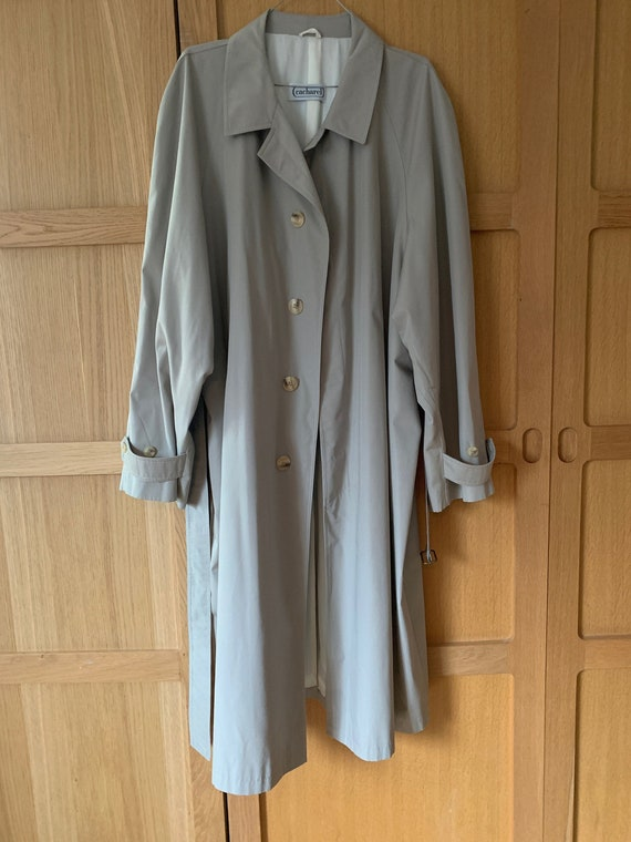 1980's Cacharel mac / trench coat in neutral size