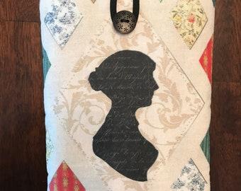 Jane Austen Silhouette small book sleeve