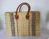 Africa Bolga Basket, Shopping Basket, Market Basket, Beige, High Quality, Medium Fairtrade