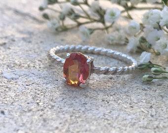 Twilight mystic topaz Gemstone in Sterling Silver Ring