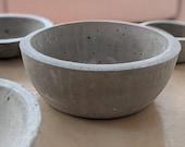 Deep Concrete Bowl with Rolled Rim | Minimal | Centrepiece | Industrial | Fruit Bowl