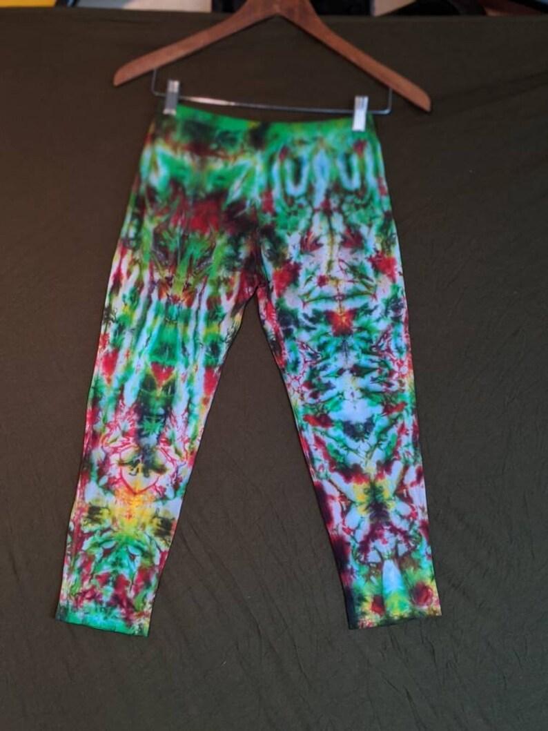 100/% cotton handmade full-length tyedye leggings size small