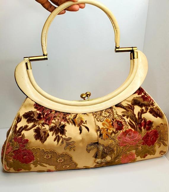 Vintage ROSENFELD Tapestry Handbag 1950's