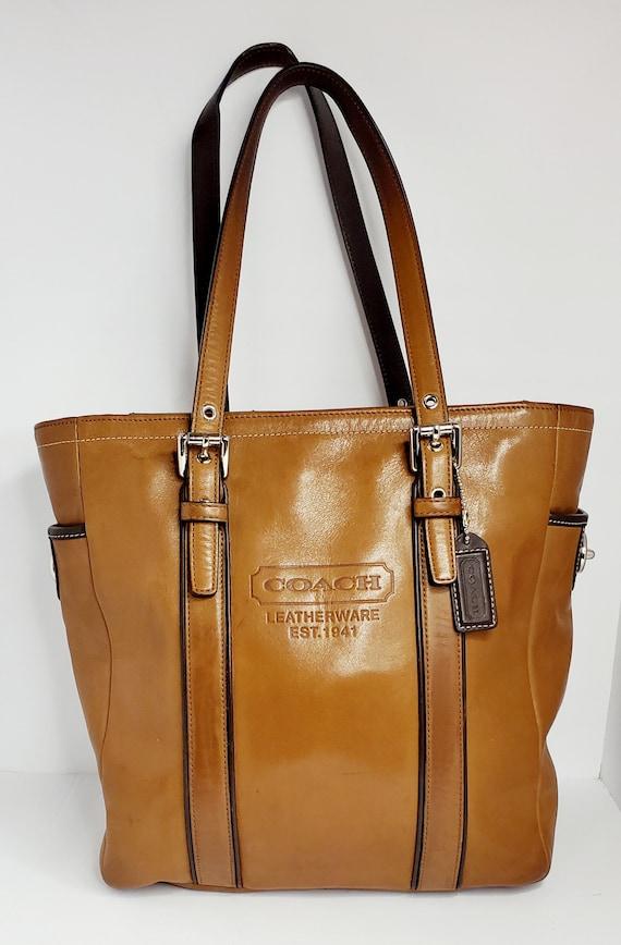 COACH 1941 Hampton Brown Leather Vintage Tote Bag