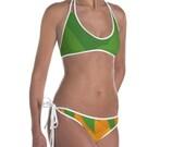 Cute bathingsuit, Pineapple Bikini, Reversible Bathingsuit, Fruit Swimsuit, Fine apple suit, Unique swimsuit, two piece swimwear, Buy now