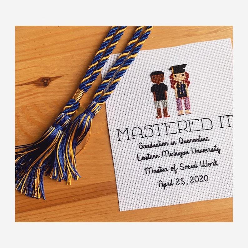 Cross Stitched Graduation Portrait
