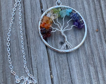 Healing Crystal Necklace /& Pendant Jewelry For Women Gift By MarkaJewelry Tree of Life Turquoise Crystal Pendulum Pendant