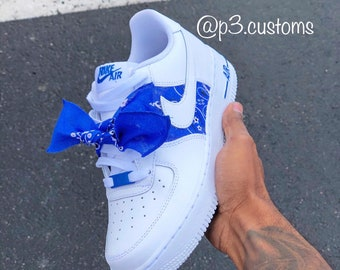 air force 1 bandana blu