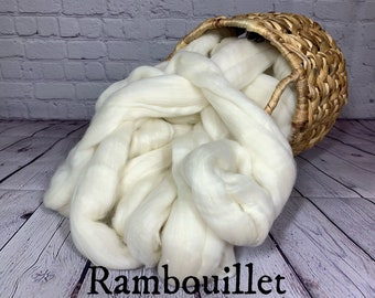 Rambouillet Combed Top Roving Wool Fiber 1 pound