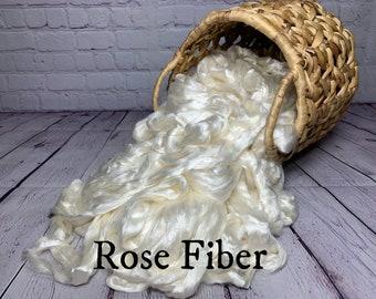 Rose Fiber Combed Top / Roving 4 ounces