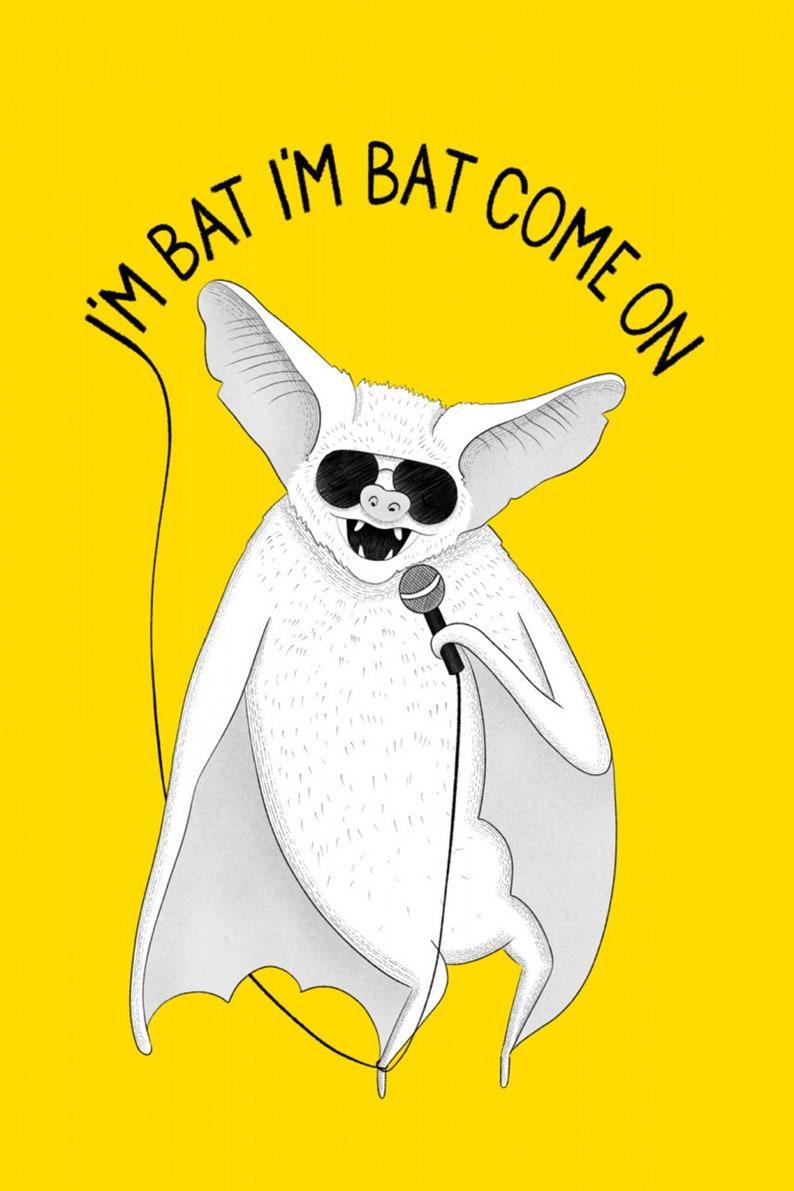 Bat singing Jackson gloss poster 17 x 24 inches