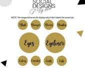Beauty Instagram Stories Highlight Covers (Honey Gold)