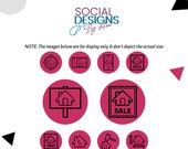 Real Estate Instagram Stories Highlight Covers in Hot Pink