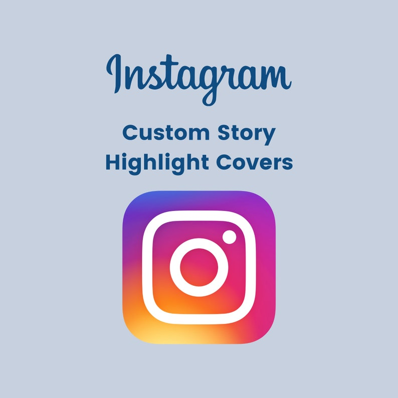 Instagram Custom Story Highlight Covers  Custom Story Icons image 0