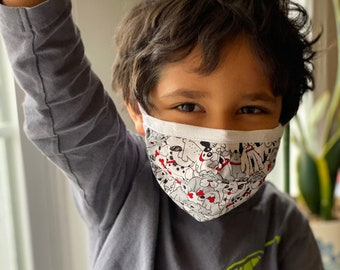 Kid Sized Handmade Face Mask, Washable, Crisis Response, CDC Compliant, Made in the USA!