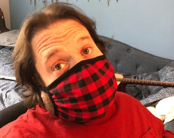 Men's Sized Handmade Face Mask, Washable, Crisis Response, CDC Compliant, Made in the USA!