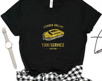 20 Korben Dallas /'Taxi Service fünfte Element T-Shirt Jahrestag Retro