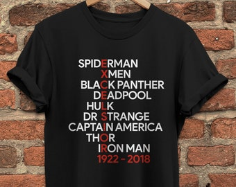 Stan Lee Thank You For The Memories T Shirt Stan Lee Marvel Black Size S-5XL