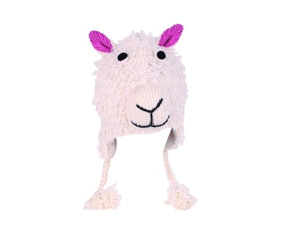 Fleece Lining Children/'s piggy Hat Kids Handmade pig pig faux Fur Earmuffs pig hat piggy Earmuffs piggy Mittens Fair Trade Pachamama