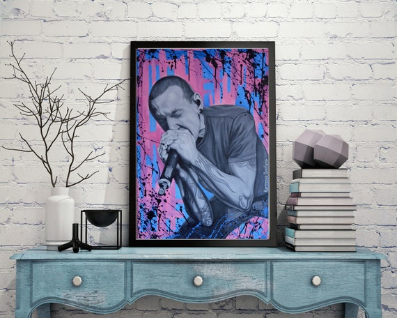 Chester Bennington Painting Original On Canvas Linkin Park Etsy