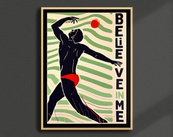 Believe In Me -  Limited Edition Handprinted A2 Screenprint