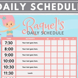 visual schedule EDITABLE    Space kids routine chart for kids chart task school chore chart Daily schedule children