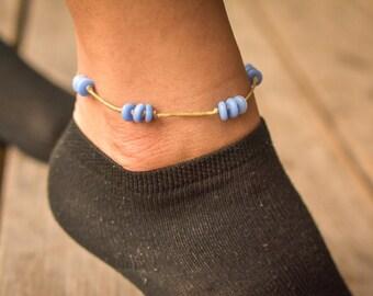 Boho Blue Cat-Eye Anklet
