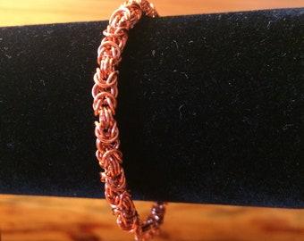 Copper Byzantine Chainmaille Bracelet