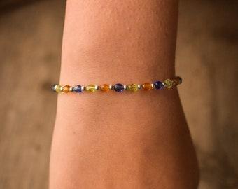 Blue, Green and Orange Stacker Bracelet