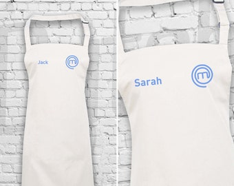 Personalised Embroidered MasterChef Apron - Customised Name with MasterChef Logo Embroidered Apron